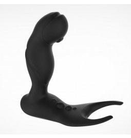 Masáž prostaty - BASIC X Leon stimulátor prostaty na dálkové ovládání černý - BSC00207