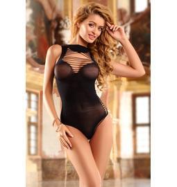 Erotické body a catsuit - Wanita Kleopatra body černé - wanH1041ST