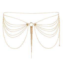 Erotické šperky - Bijoux indiscrets Magnifique zlatý řetízek přes boky a zadeček - bb0184