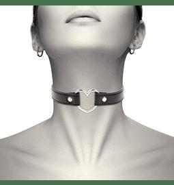 Erotické šperky - Coquette náhrdelník - obojek srdce - D-226908