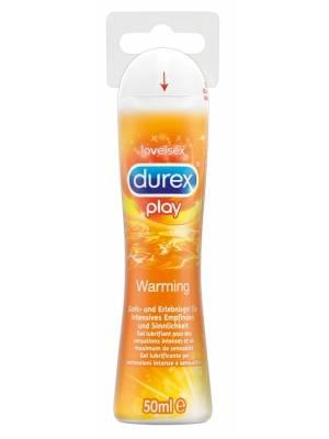 Lubrikační gely na vodní bázi - Durex Play Warming hřejivý lubrikační gel 50 ml - 6181790000