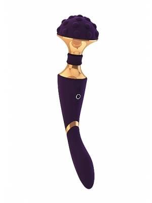 Masážní hlavice - VIVE Shiatsu Purple - dvoumotorová dobíjecí hlavice 2v1 fialová - VIVE011PUR