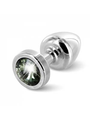 Anální šperky - Diogol Anni Anální kolík 25 mm s černým kamínkem - E26679