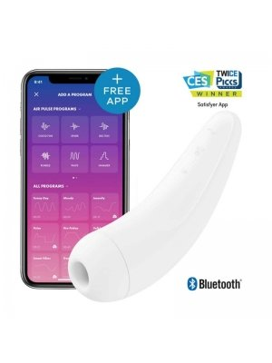 Tlakové stimulátory na klitoris - Satisfyer Curvy 2+ bílý - 4061504001876